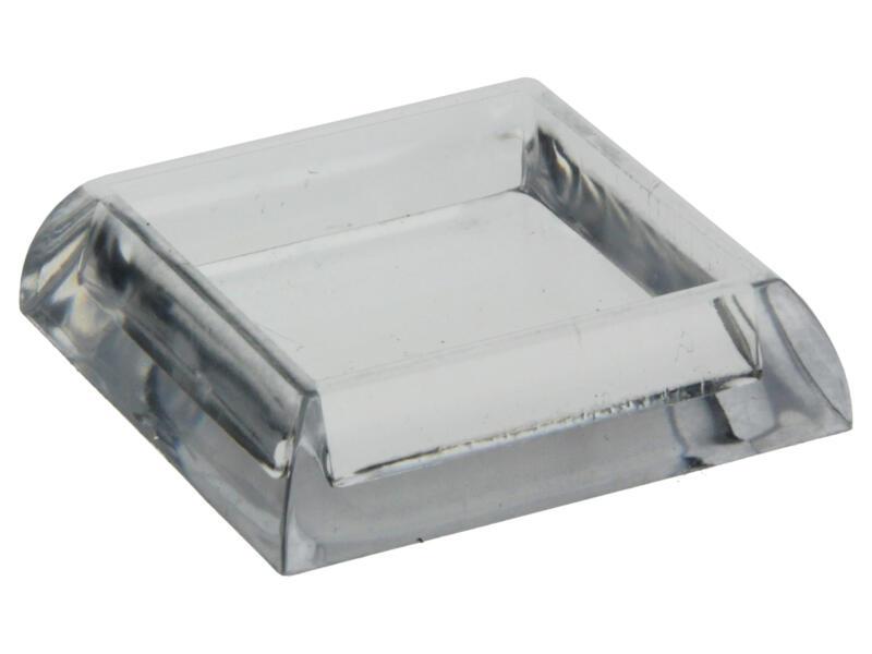 Sam Sous-pied de meuble 30x30 mm transparent 4 pièces