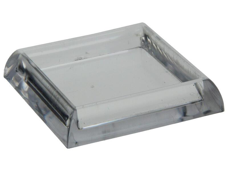 Sam Sous-pied de meuble 40x40 mm transparent 4 pièces
