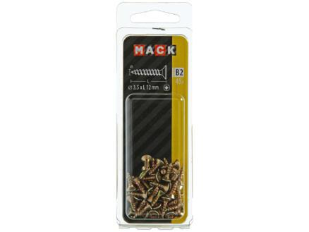 Mack Spaanplaatschroeven PZ2 12x3,5 mm geelverzinkt 45 stuks