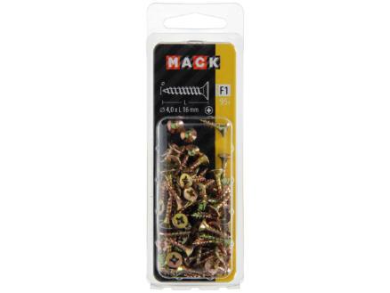 Mack Spaanplaatschroeven PZ2 16x4 mm geelverzinkt 95 stuks