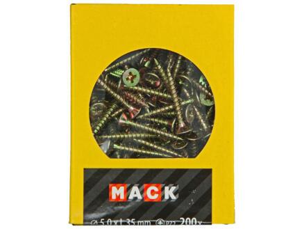 Mack Spaanplaatschroeven PZ2 35x5 mm geelverzinkt 200 stuks
