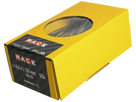 Mack Spaanplaatschroeven PZ3 130x6 mm geelverzinkt 50 stuks