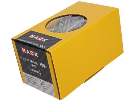 Mack Spaanplaatschroeven PZ3 60x6 mm geelverzinkt 100 stuks