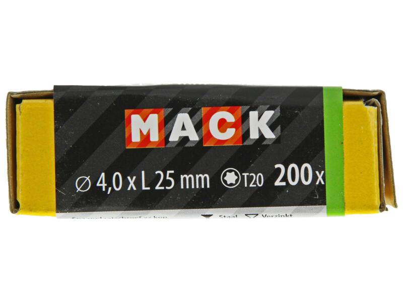 Mack Spaanplaatschroeven TX20 25x4 mm geelverzinkt 200 stuks