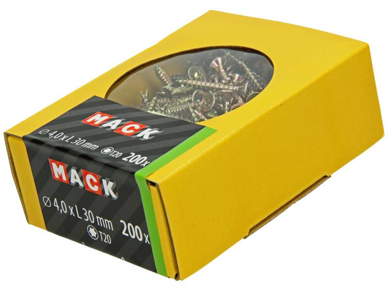 Mack Spaanplaatschroeven TX20 30x4 mm geelverzinkt 200 stuks