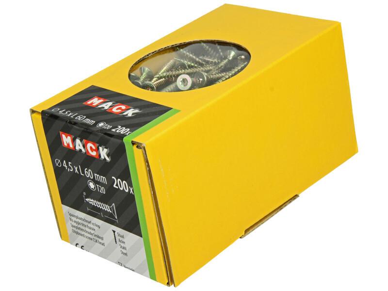 Mack Spaanplaatschroeven TX20 60x4,5 mm geelverzinkt 200 stuks