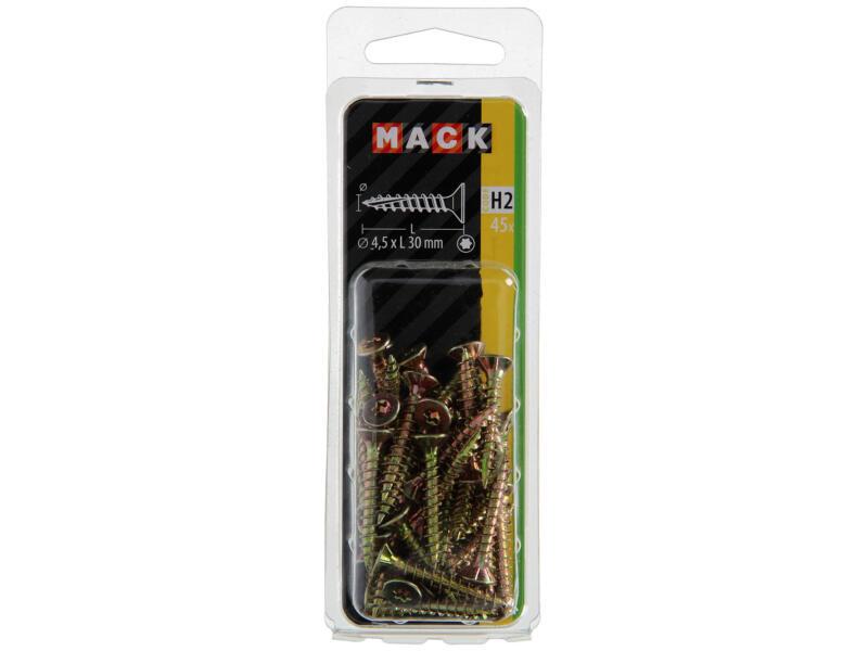 Mack Spaanplaatschroeven TX25 30x4,5 mm geelverzinkt 45 stuks