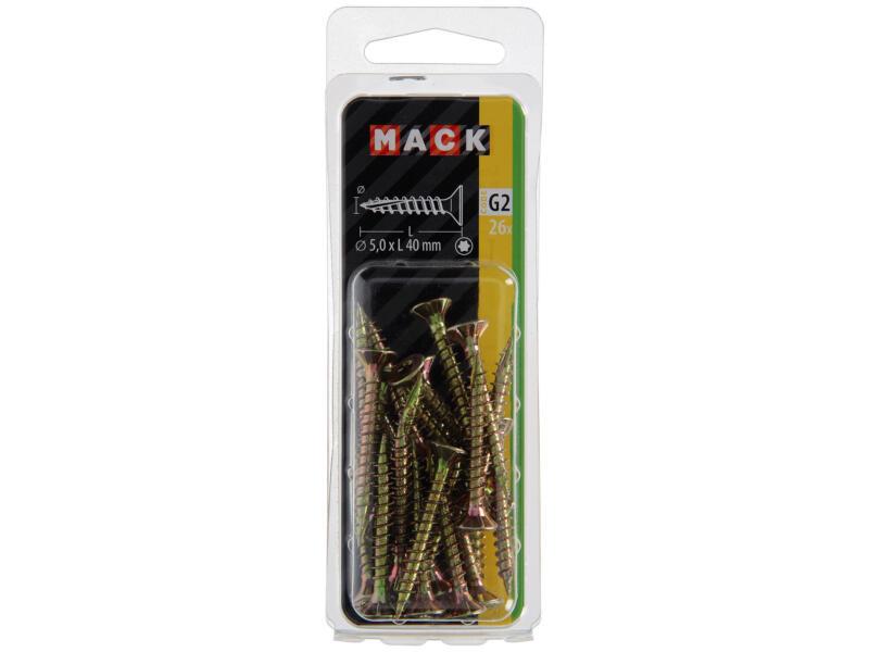 Mack Spaanplaatschroeven TX25 40x5 mm geelverzinkt 26 stuks