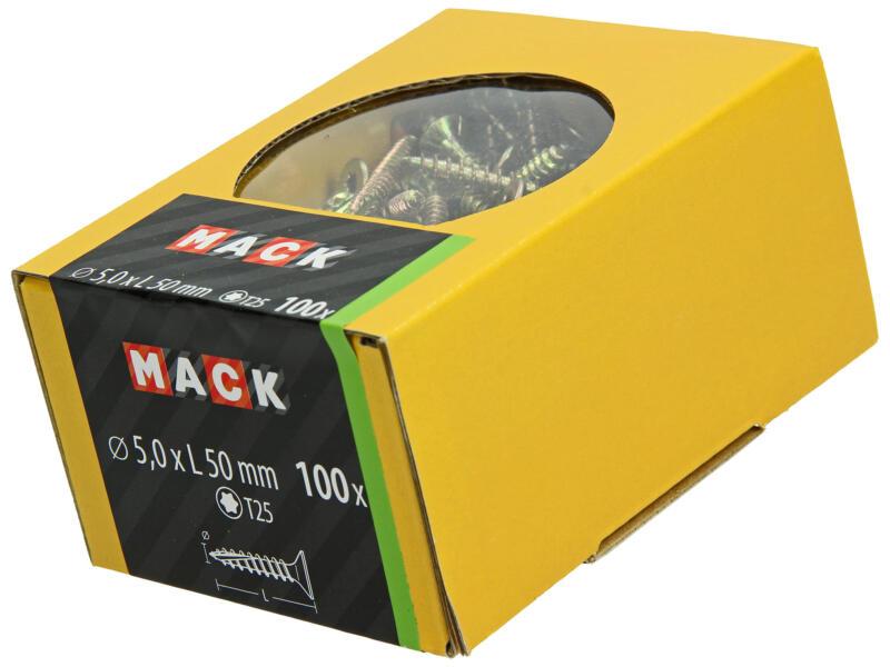 Mack Spaanplaatschroeven TX25 50x5 mm geelverzinkt 100 stuks