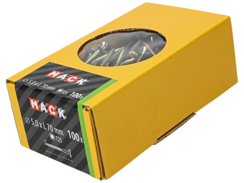 Mack Spaanplaatschroeven TX25 70x5 mm geelverzinkt 100 stuks