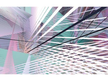 Space Grid Spring digitaal fotobehang vlies 4 stroken