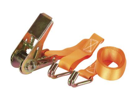 Spanband met opspanratel  1.5m x 25mm 500kg