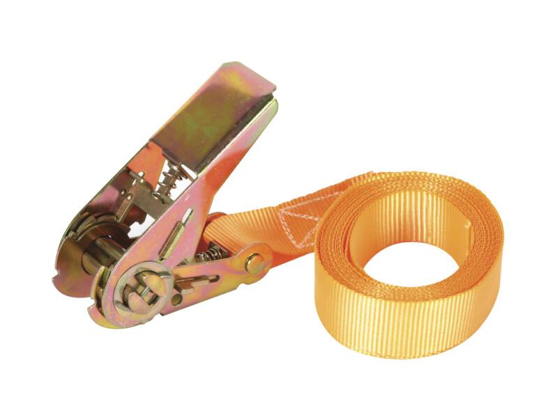 Spanband met opspanratel 3,65mx25mm 500kg