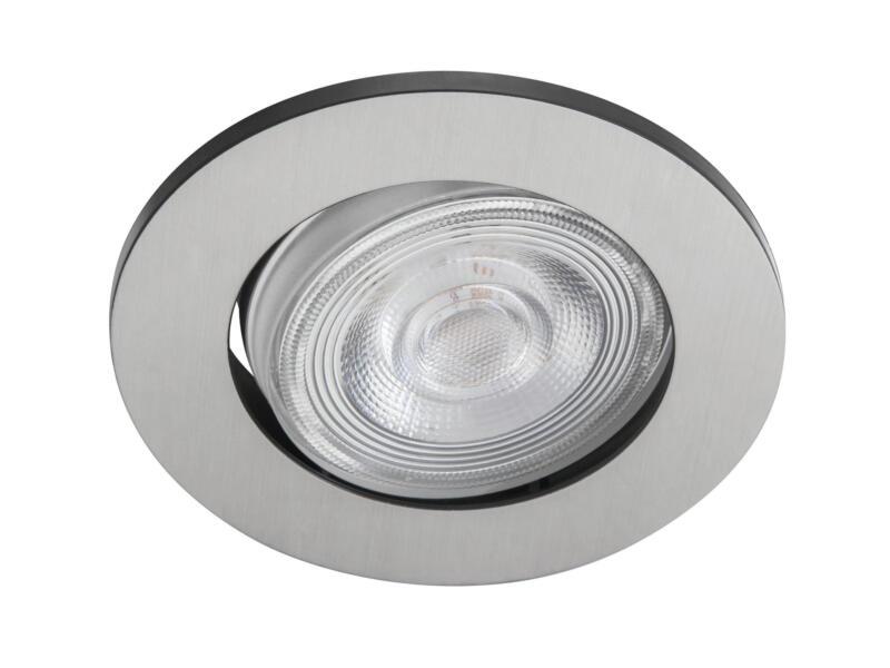 Philips Sparkle LED inbouwspot 3x5 W dimbaar nikkel grijs