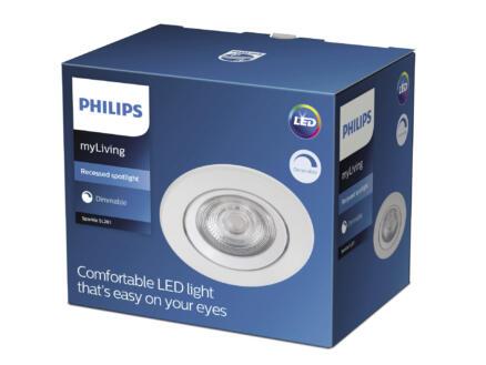 Philips Sparkle spot LED encastrable 5W dimmable blanc