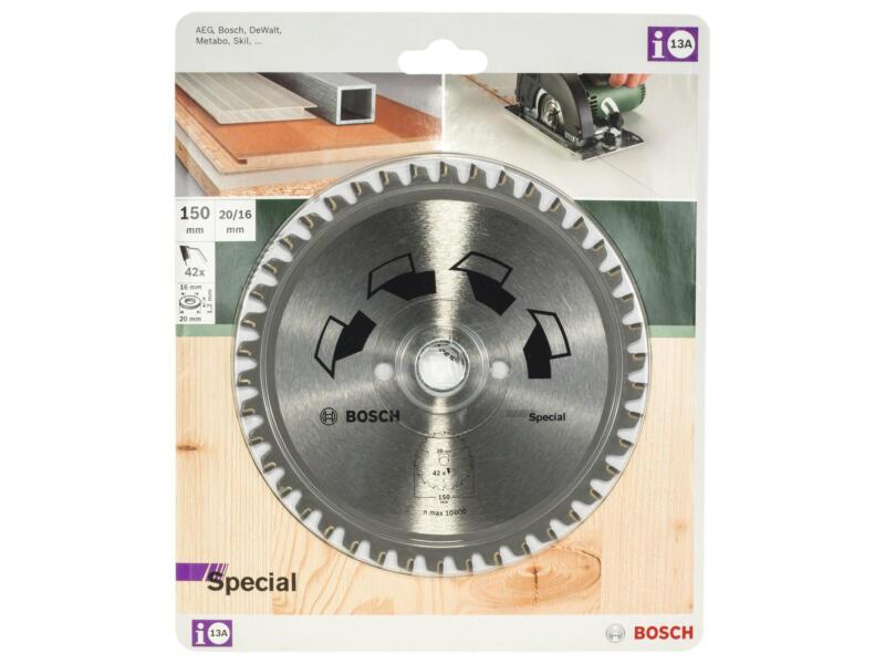Bosch Special cirkelzaagblad 150mm 42T hout