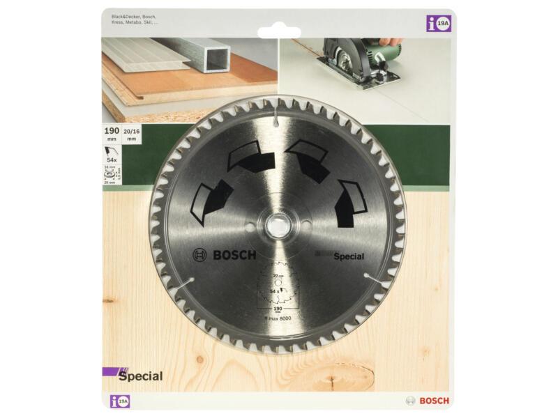 Bosch Special lame de scie circulaire 190mm 54D bois