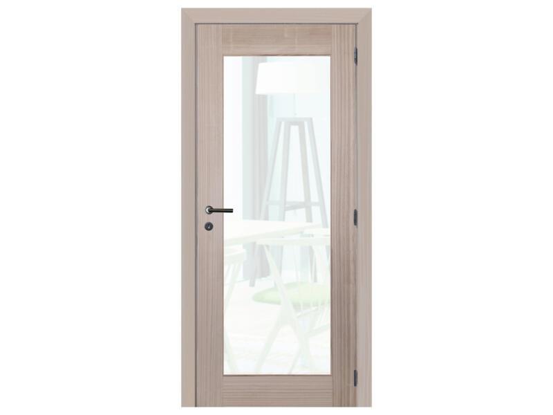 Solid Spirit Brut binnendeur met glas 201x78 cm bruin