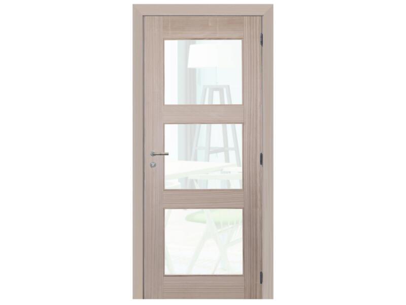 Solid Spirit Brut binnendeur met glazen 201x73 cm bruin
