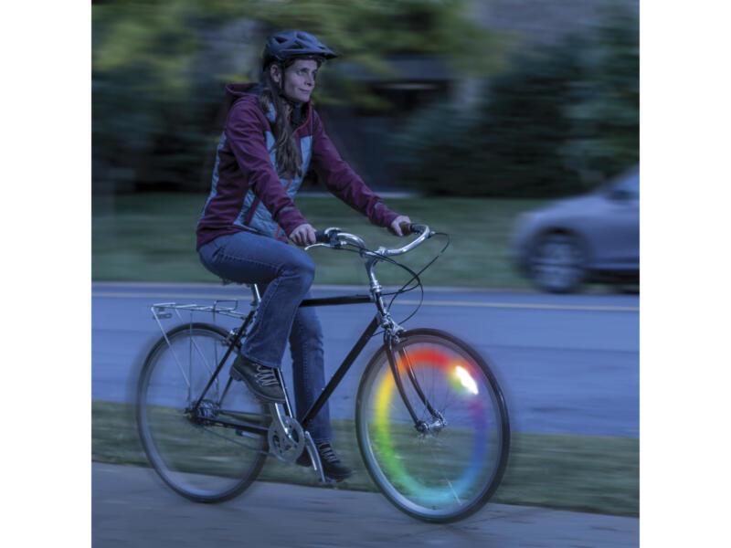 Nite Ize Spokelit Disc-O-Select éclairage roue de vélo LED rechargeable multicolore