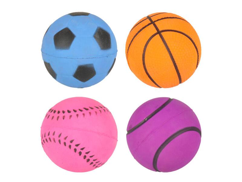 Flamingo Sportbal 6,3cm spons beschikbaar in 4 kleuren