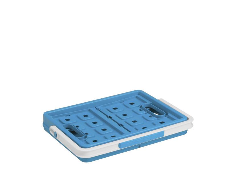 Sunware Square caisse pliante 24l bleu + anse blanche