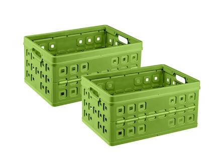 Sunware Square caisse pliante 46l vert 2 pièces