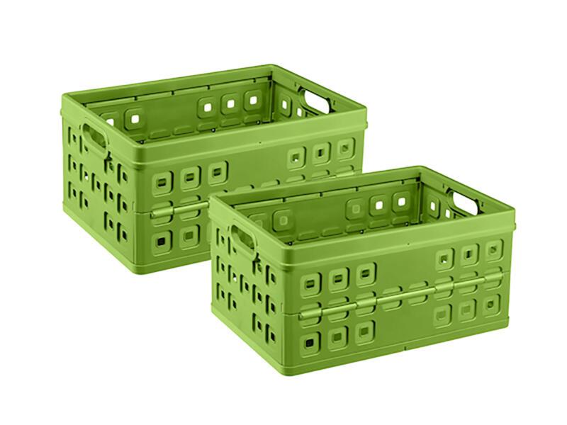 Sunware Square plooibox 46l groen 2 stuks