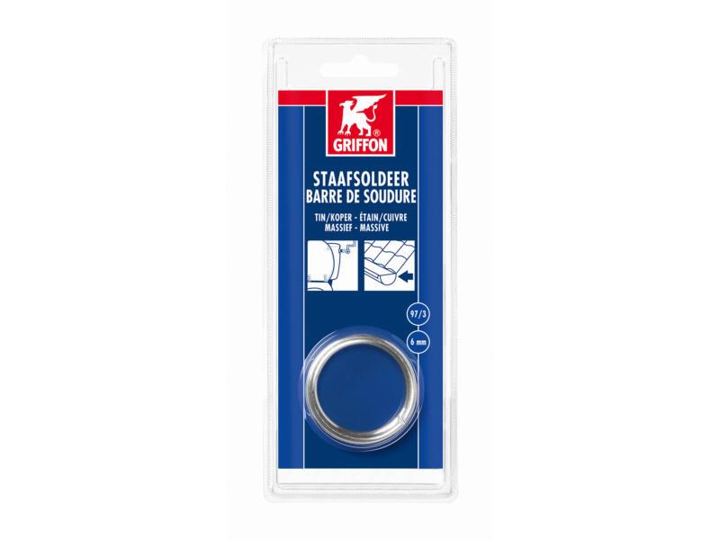 Staafsoldeer Tin/Koper 97/3 massief 3mm 100g