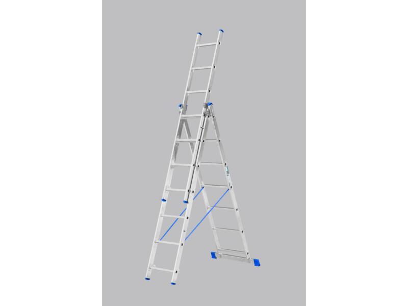 Escalo Stabilo ladder met stabilisator 3x7 sporten