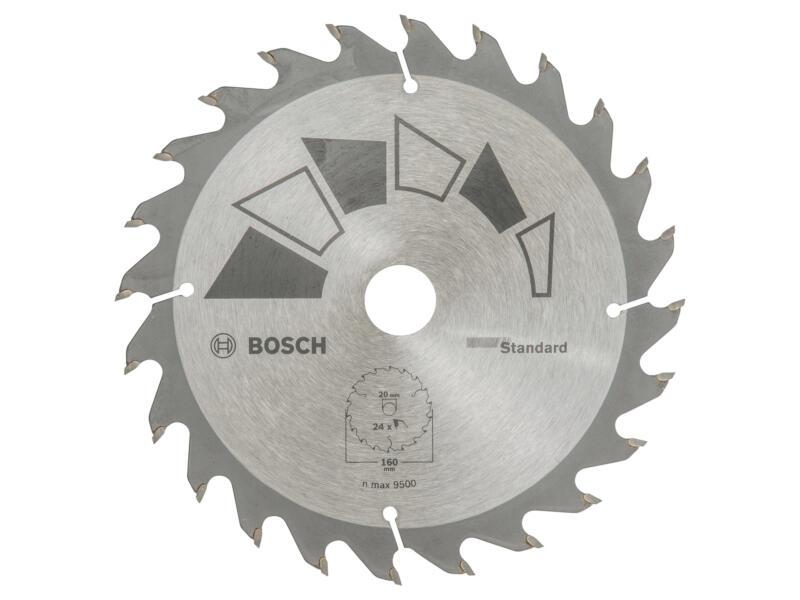 Bosch Standard cirkelzaagblad 160mm 24T hout