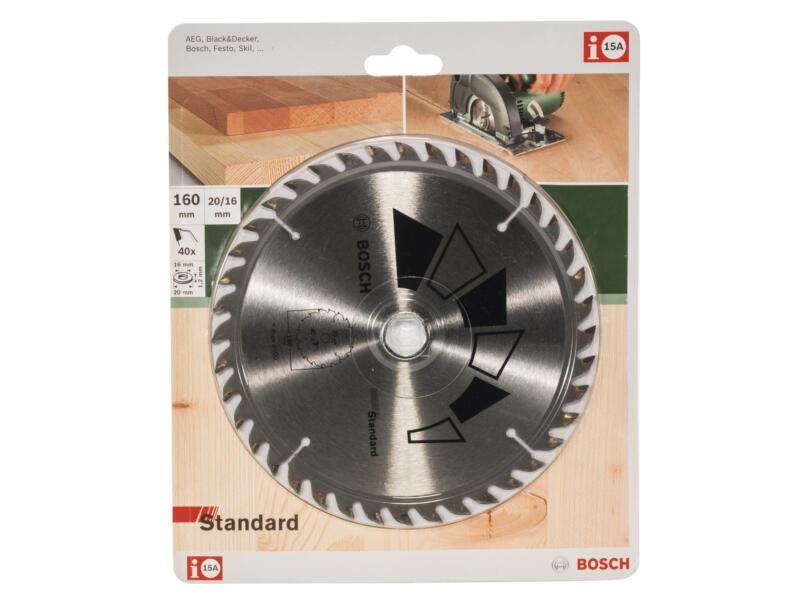 Bosch Standard cirkelzaagblad 160mm 40T hout