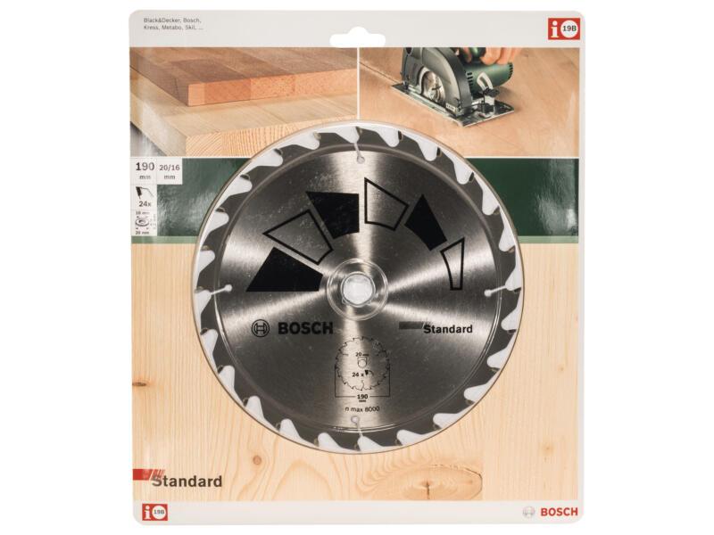 Bosch Standard lame de scie circulaire 190x20 mm 24D bois
