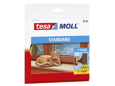 Tesa Standard tochtstrip 6m 0,9cm bruin