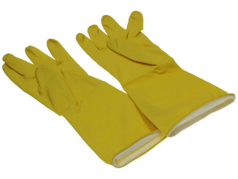 Starbright huishoudhandschoenen M latex geel
