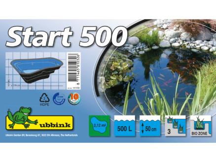 Start 500 vijver 500l