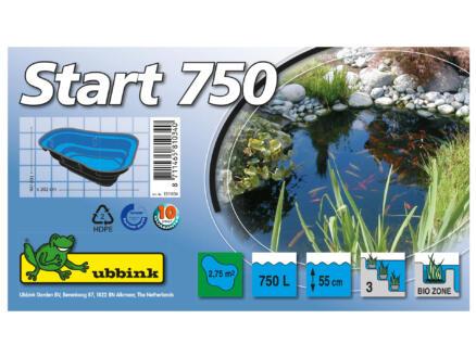Start 750 vijver 750l