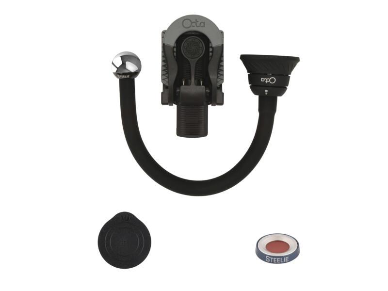 Steelie Bendable Arm + Ratcheting Clamp Kit magnetische smartphonehouder 4-delig