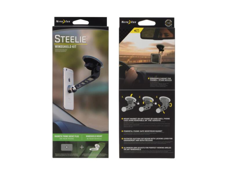 Nite Ize Steelie Windshield Kit smartphonehouder auto/voorruit 2-delig