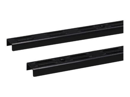 Stelijzer dubbel 100cm zwart 2 stuks