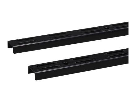 Stelijzer dubbel 150cm zwart 2 stuks