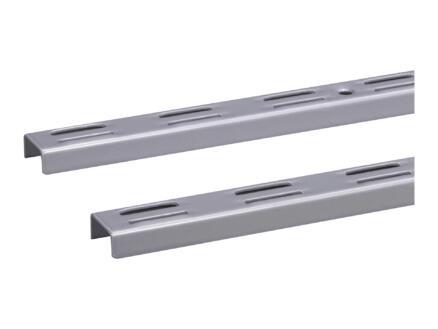 Stelijzer dubbel 200cm aluminium 2 stuks
