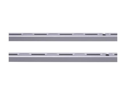 Stelijzer enkel 200cm aluminium 2 stuks