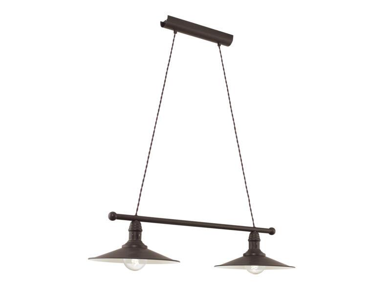 Eglo Stockbury hanglamp E27 max. 2x60 W 30cm bruin-beige