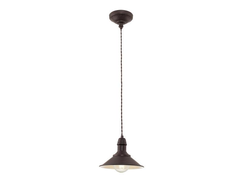 Eglo Stockbury hanglamp E27 max. 60W 21cm bruin-beige