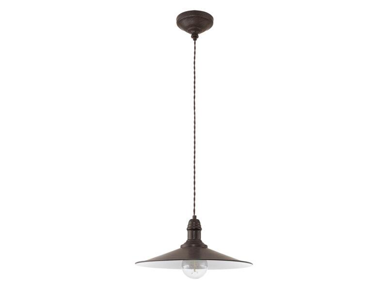 Eglo Stockbury hanglamp E27 max. 60W 36cm bruin-beige
