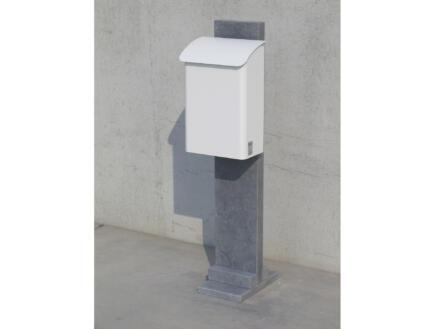 VASP Stockholm brievenbus belgische blauwe steen en staal wit