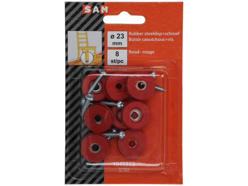 Sam Stoeldop 23mm rood 8 stuks