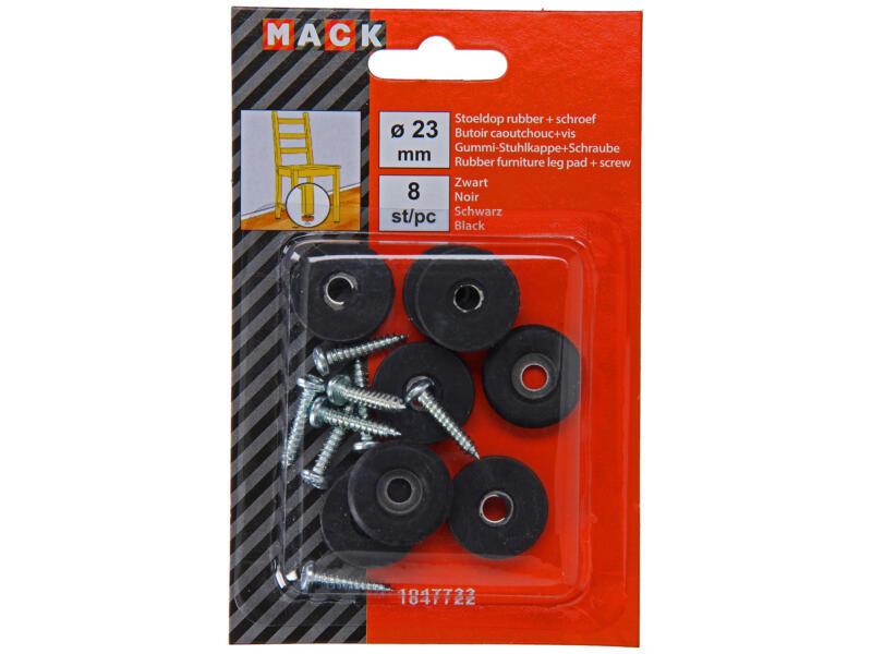 Mack Stoeldop 23mm zwart 8 stuks