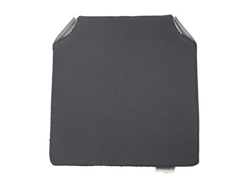 Stoelkussen 40x40 cm donkergrijs
